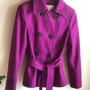 Zara Medium Peacoat in Magenta